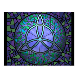 Stained Glass Triskele Post Card