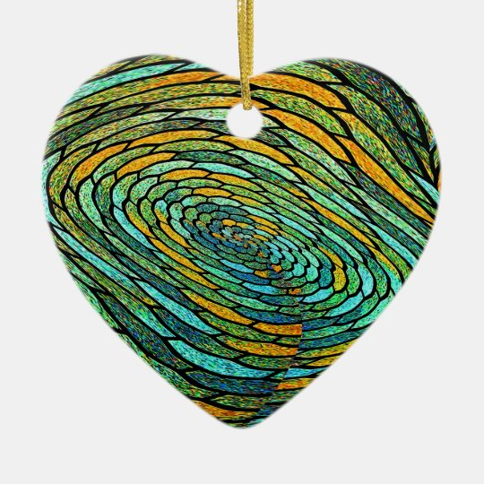 Stained Glass Vortex Ornament