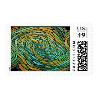 Stained Glass Vortex Postage Stamps