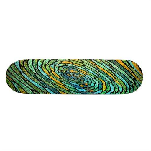 Stained Glass Vortex Skateboard