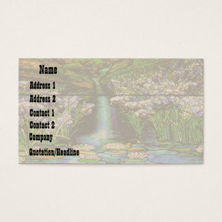 Stained Glass Water Garden Business Card