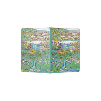 Stained Glass Waterfalls Floral Passport Holder
