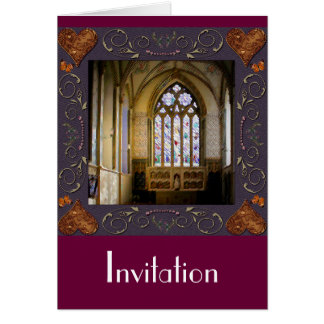 Stained Glass Wedding Invitation Greeting Card
