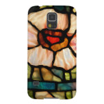 stained glass white poppy samsung galaxy nexus cover