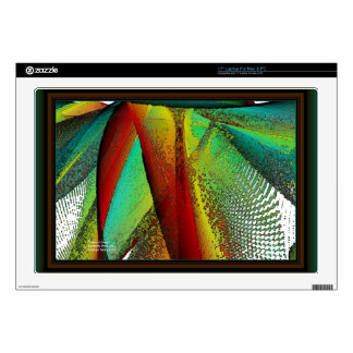 """Stained Glass Window 17"""" Laptop Decal"""