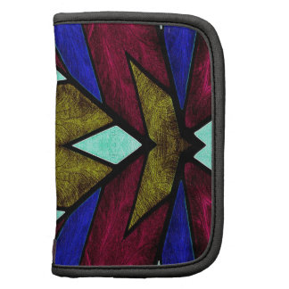 Stained Glass Window Abstract Geometric brown Planner