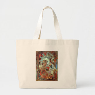 Stained Glass Window (Allegory) by Odilon Redon Jumbo Tote Bag
