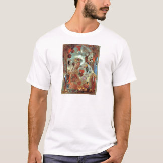 Stained Glass Window (Allegory) by Odilon Redon T-Shirt