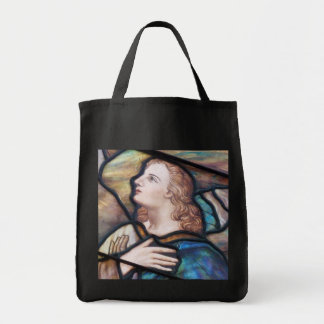 Stained Glass Window Angel Tote Bag