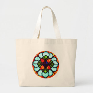 Stained Glass Window Tote Bags