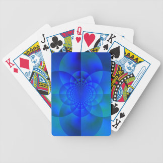 Stained Glass Window, Blue Bicycle Playing Cards