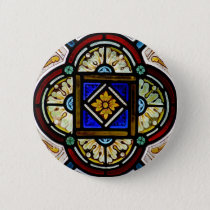 Stained Glass Window Button