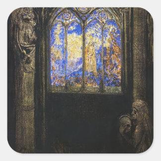 Stained Glass Window by Odilon Redon Stickers