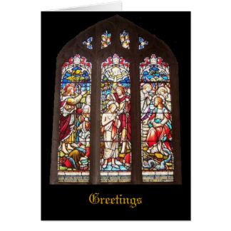 Stained Glass Window Christmas Card