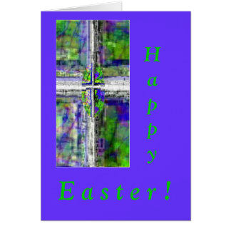 Stained Glass Window Cross Greeting Cards