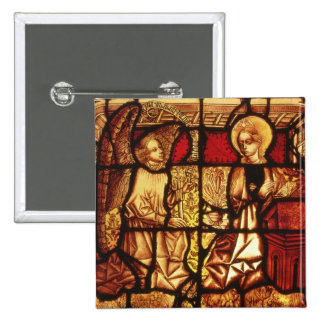Stained glass window depicting the Annunciation, G 2 Inch Square Button