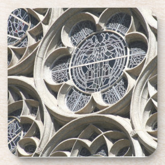 Stained glass window drink coaster