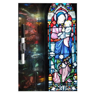Stained glass window dry erase whiteboard