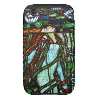 Stained Glass Window Fairy in the Pond iPhone 3 Tough Case