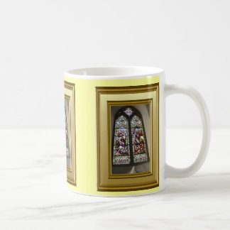 Stained glass window, France Classic White Coffee Mug