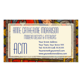 Stained Glass Window from Chartres Cathedral Double-Sided Standard Business Cards (Pack Of 100)