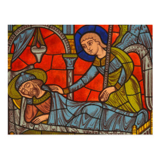 Stained Glass Window from Chartres Cathedral Postcard