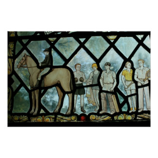 Stained glass window, Great Missenden, Bucks Posters