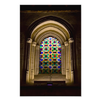 Stained Glass Window in the Mezquita Photo Print
