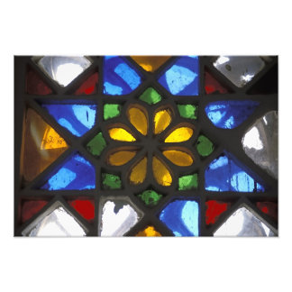 Stained glass window inside the National Photo Print