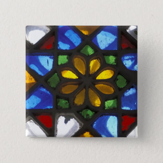 Stained glass window inside the National Pinback Button