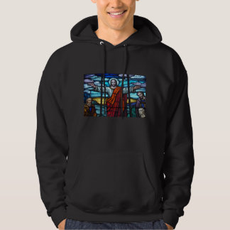 Stained Glass Window Jesus Hoodie Sweatshirt