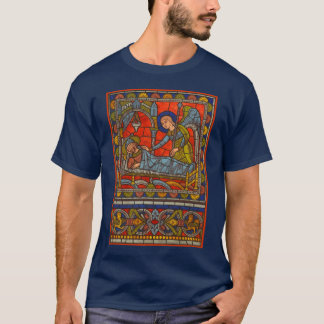 Stained Glass Window Joseph's Dream Chartres T-Shirt