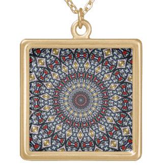 Stained Glass Window Kaleidoscope3 Necklace