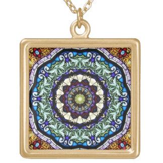 Stained Glass Window Kaleidoscope5 Necklace