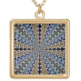 Stained Glass Window Kaleidoscope6 Necklace