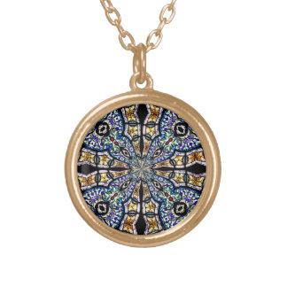 Stained Glass Window Kaleidoscope7 Necklace