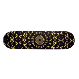 Stained Glass Window Kaleidoscope 11 Skateboard