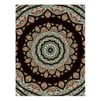 Stained Glass Window Kaleidoscope 13 Postcard