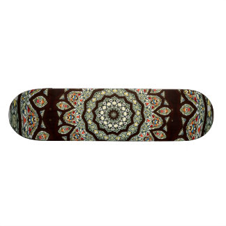 Stained Glass Window Kaleidoscope 13 Skateboard Deck