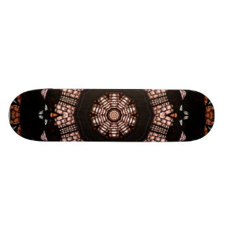 Stained Glass Window Kaleidoscope 14 Skateboard