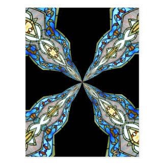 Stained Glass Window Kaleidoscope 16 Postcard