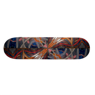Stained Glass Window Kaleidoscope 18 Skateboard