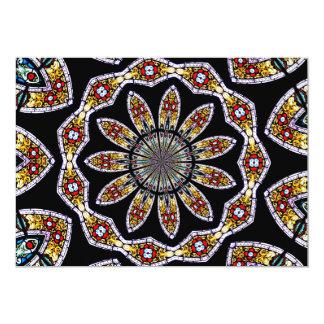 Stained Glass Window Kaleidoscope #1 Card