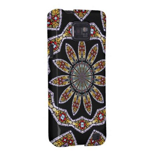 Stained Glass Window Kaleidoscope #1 Samsung Galaxy S2 Cases