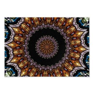 Stained Glass Window Kaleidoscope 21 Card