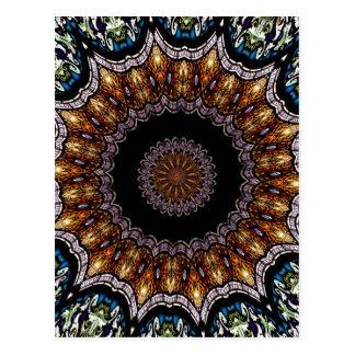 Stained Glass Window Kaleidoscope 21 Postcard