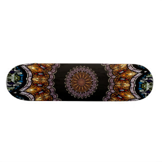 Stained Glass Window Kaleidoscope 21 Skateboard Deck