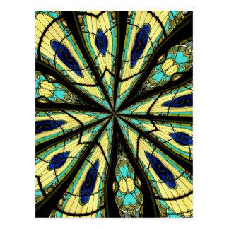 Stained Glass Window Kaleidoscope 23 Postcard