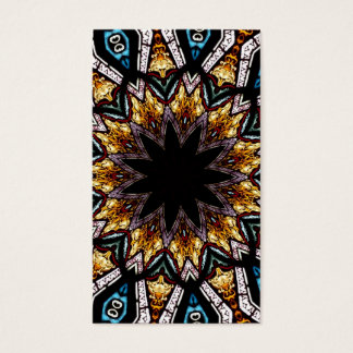 Stained Glass Window Kaleidoscope 4 Business Card