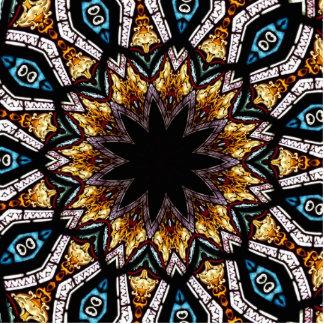 Stained Glass Window Kaleidoscope 4 Cutout